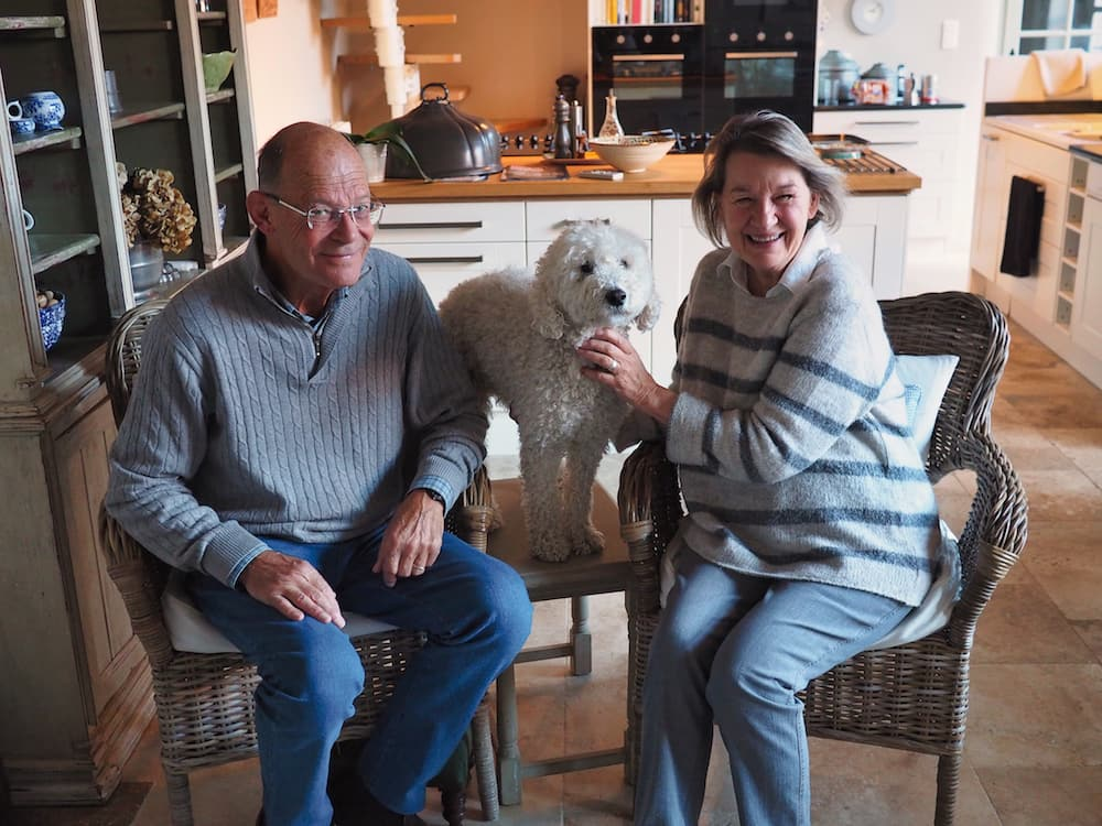 Our hosts in Tarn with Bertie - House sitting tips