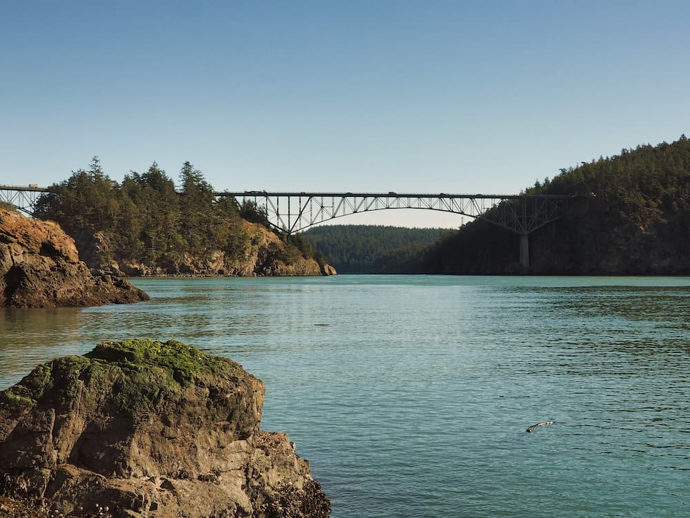 Deception Pass Bridge, WA from Lighthouse Point