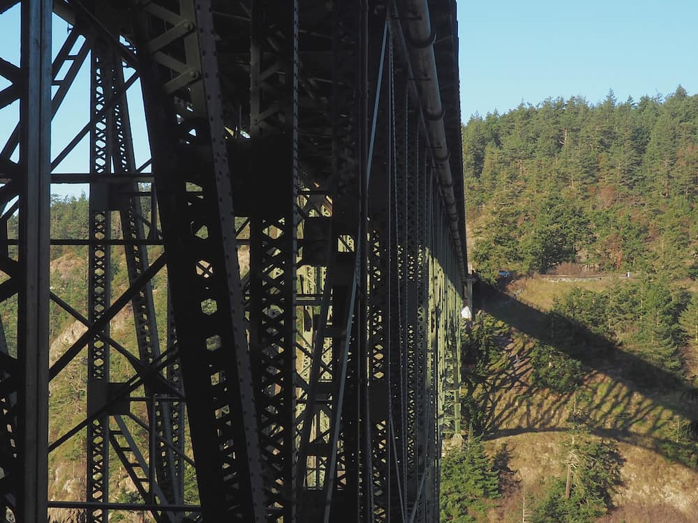 Deception Pass Bridge viewed from below