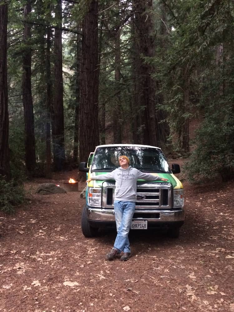 At Pfeiffer State Park Campground, Big Sur