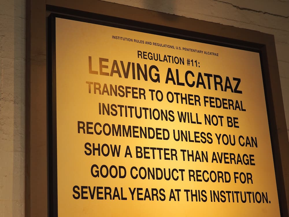 alcatraz rules and regulations