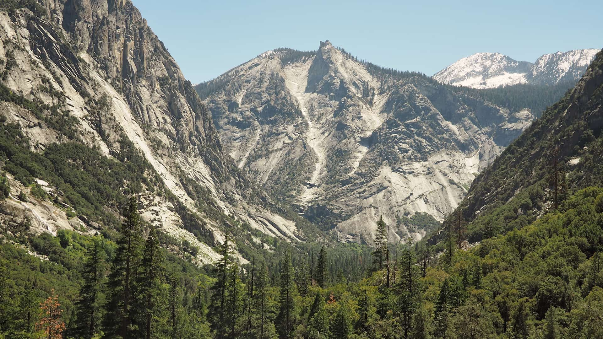 View of The Sphinx from Mist Trail, Kings Canyon, California
