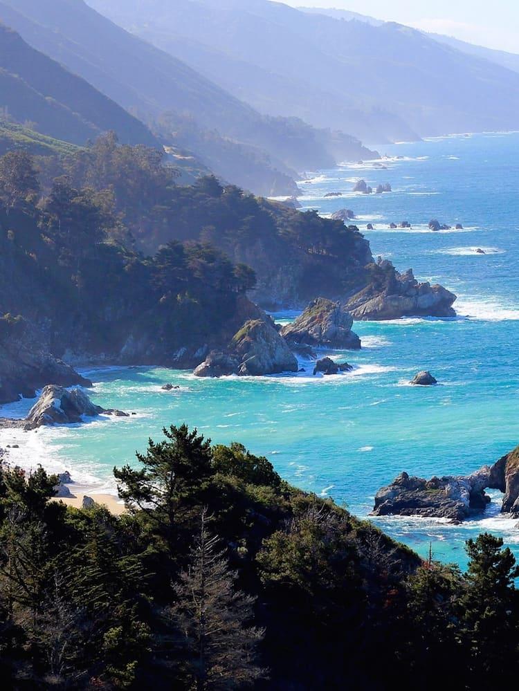 Coastal view of Big Sur