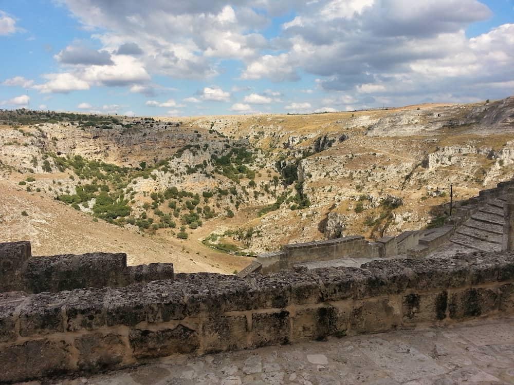 View from Le Grotte della Civita hotel