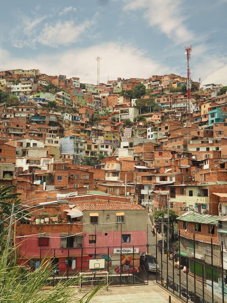 View of Comuna 13, Medellin, Colombia