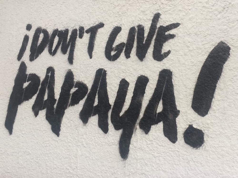 Don't give papaya!