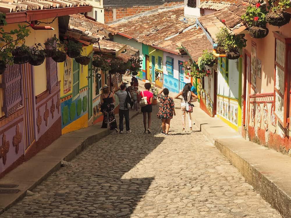 Exploring Guatape - vibrant street colours