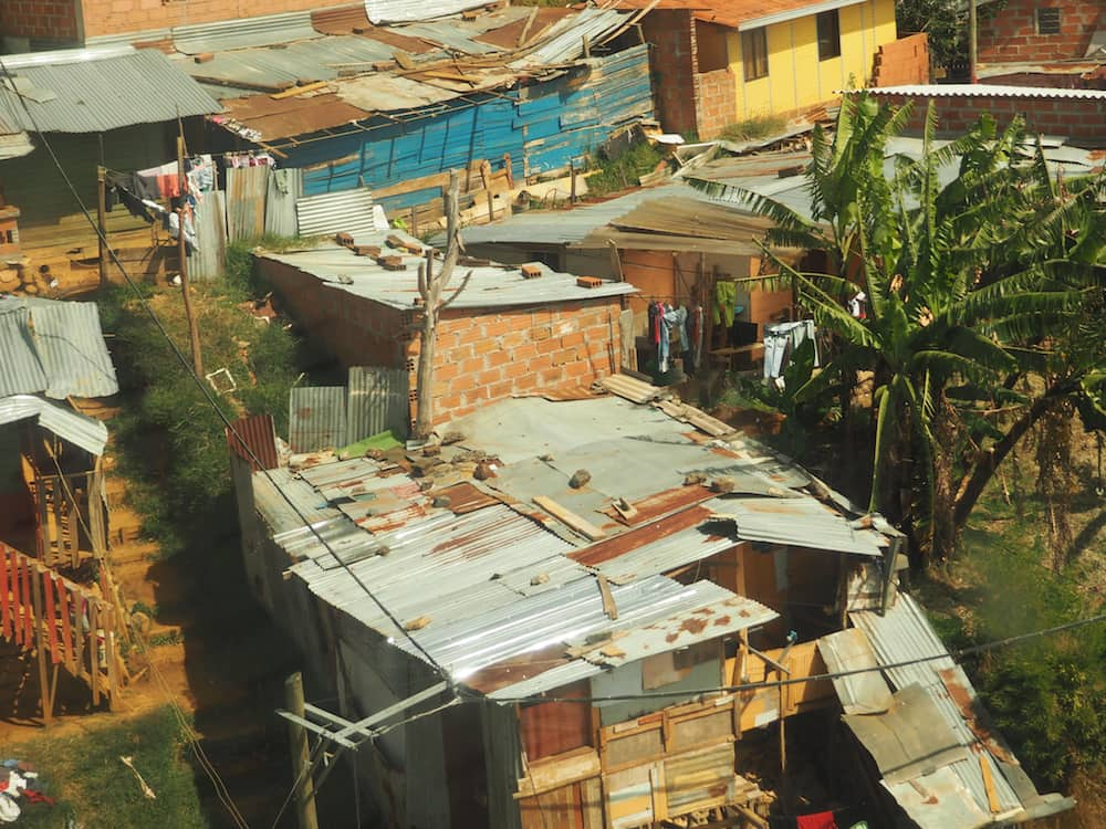 Slums in Santo Domingo barrio - Medellin itinerary