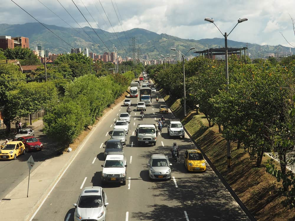 Traffic in Medellin