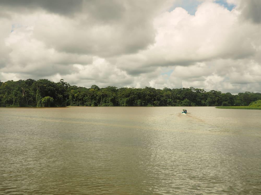 Boat heading towards Tortuguero National Park