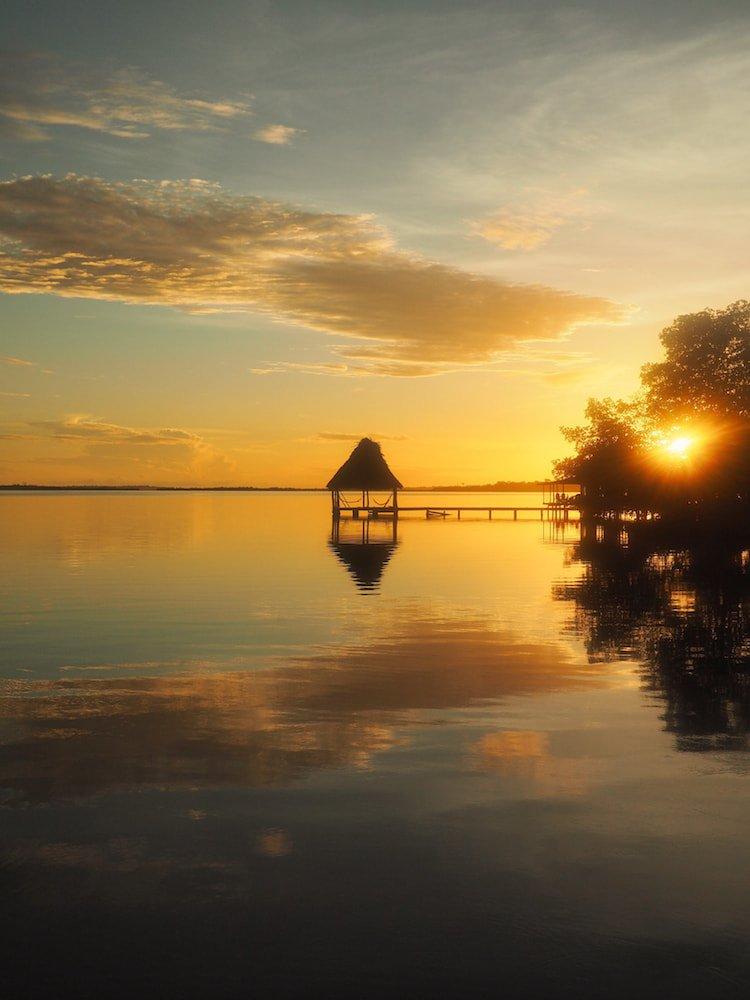 Sunset over Cristobal Island, Bocas del Toro