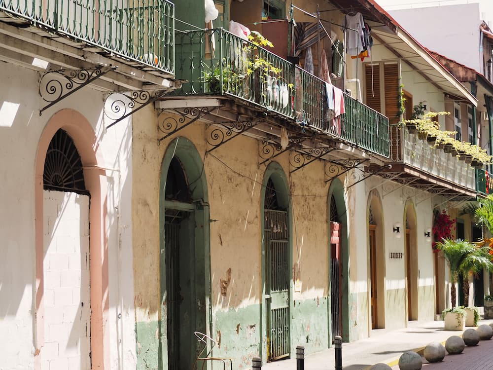 Row of houses in Casco Viejo