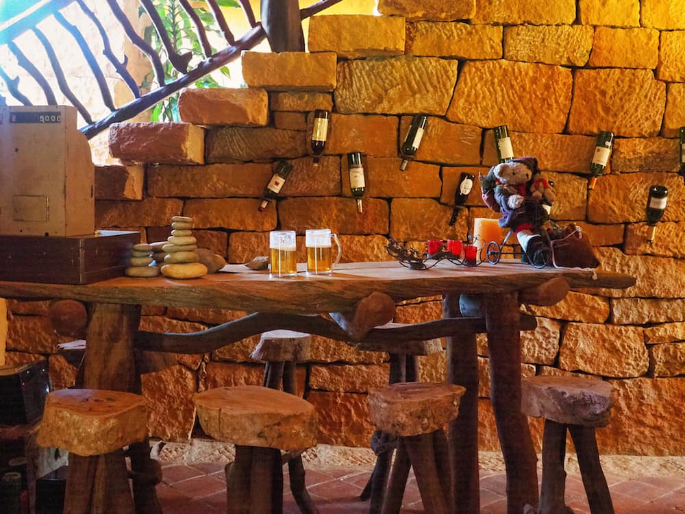 Bar area at Casa Mahaneim