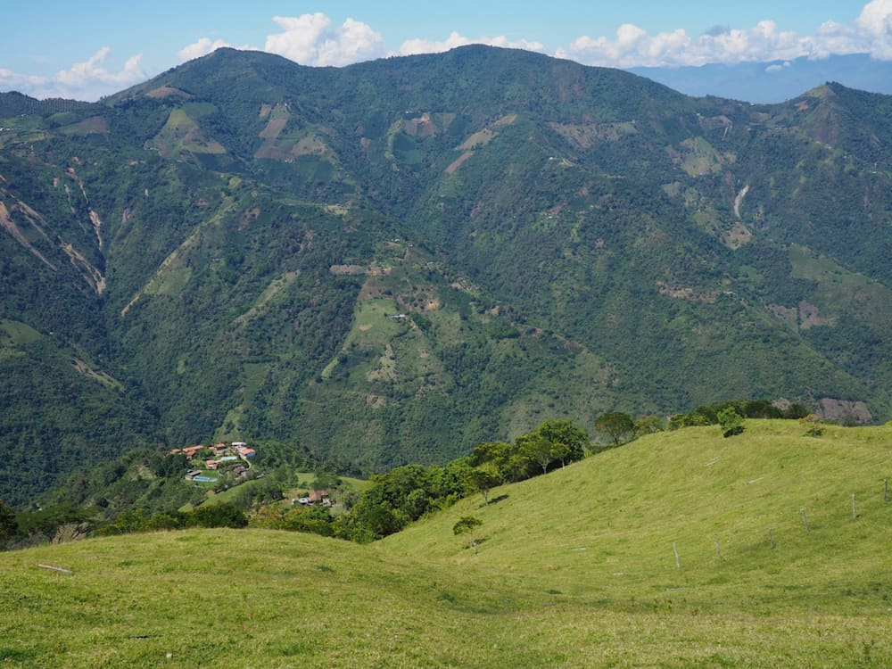 View into the valley across the road from Alto Bonito
