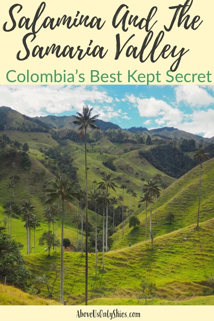 With a sublime mountain setting and access to scenery that rivals the Cocora Valley, Salamina is a visual treat - yet few foreign visitors actually go there - #pueblospatrimonios #heritagetowns #cocoravalley #colombiatravel #offthebeatentrack