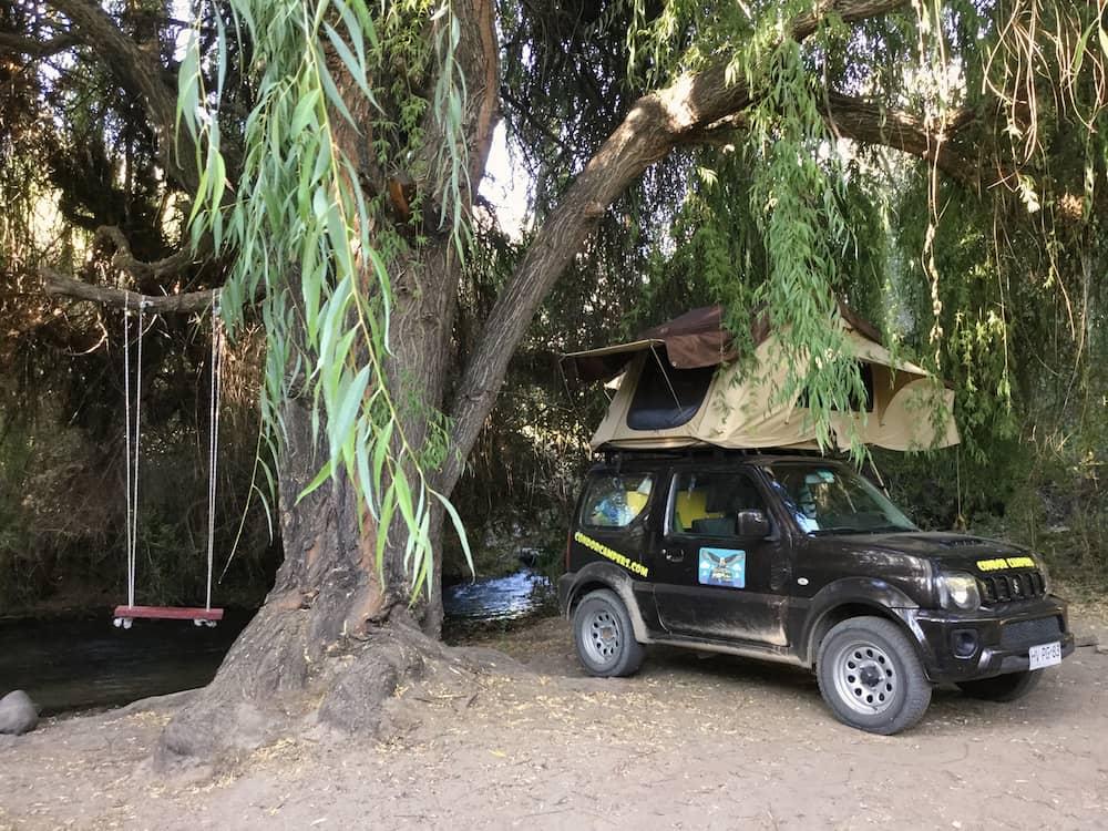 Camping at Hacienda de los Andes