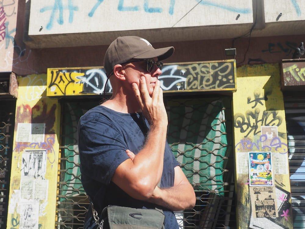 Ian listens during the Valparaiso walking tour