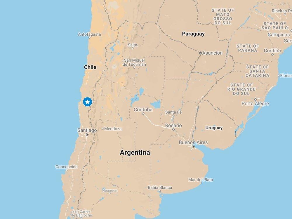 Location of the Rio Hurtado Valley