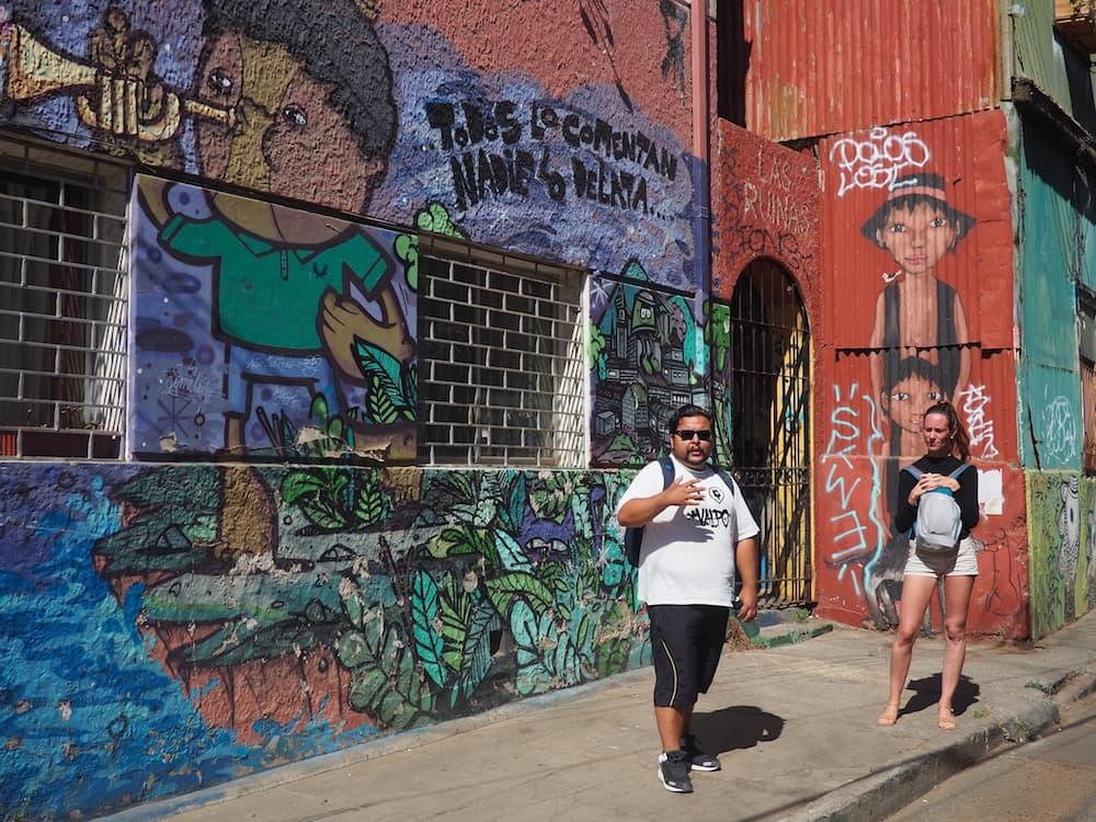 The Valparaiso street art walking tour