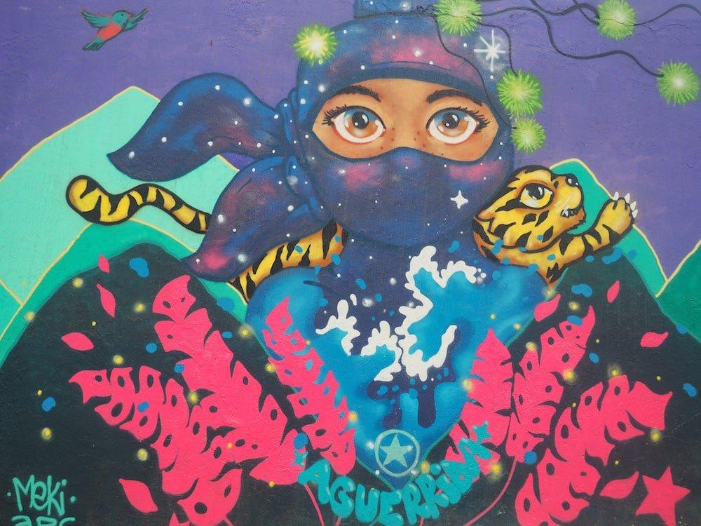 Street art in Barranco, Lima