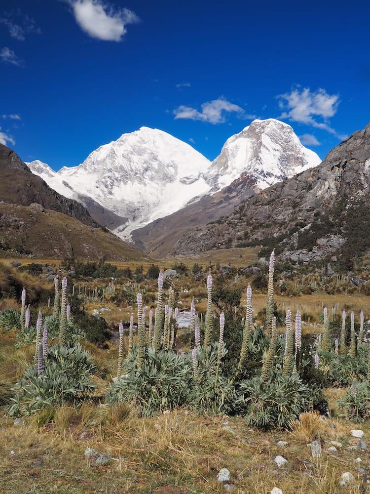 The twins peaks of Mount Huascarán