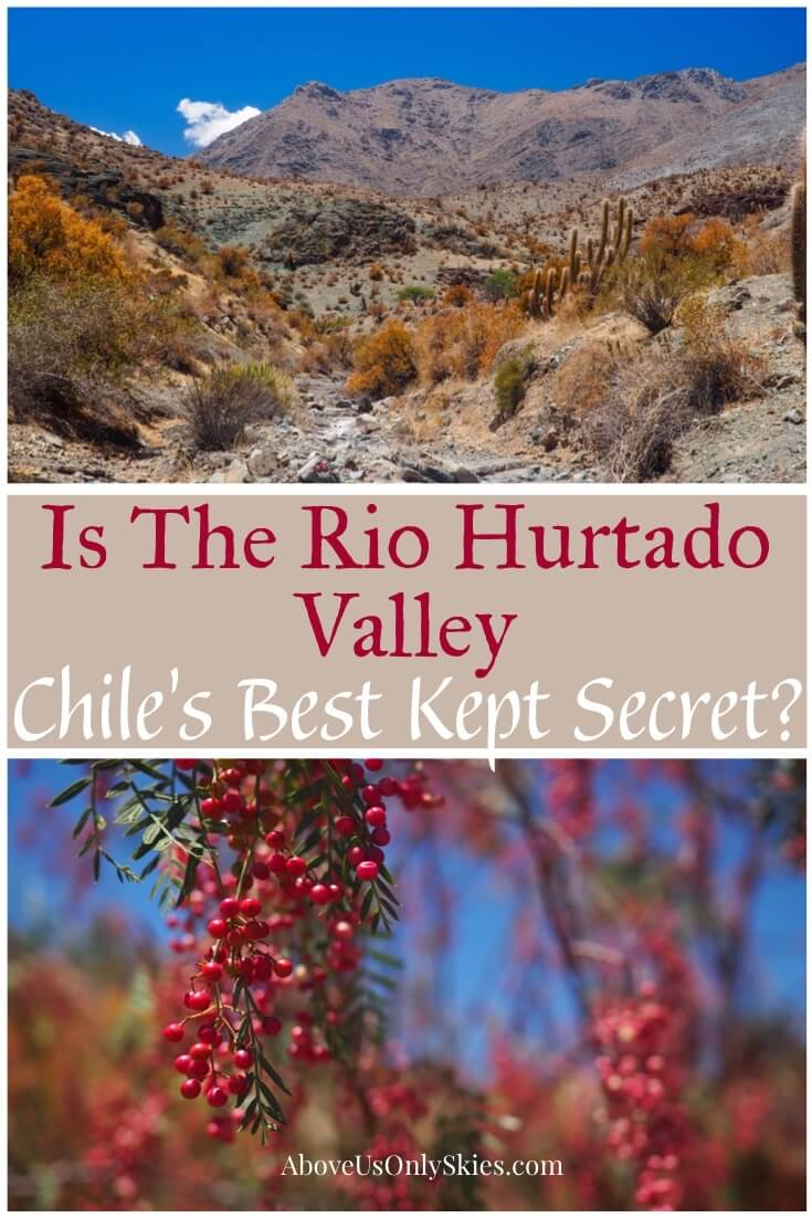 Hidden away at the very southern edge of the Atacama Desert, the glorious Rio Hurtado Valley in Chile is largely undiscovered and begging to be explored #chile #chiletravel #backpacking #southamericatravel #southamericatravelphotos #hikingtrails #exploremore #roadtrip #chilephotographs #travelguide #traveldestinations