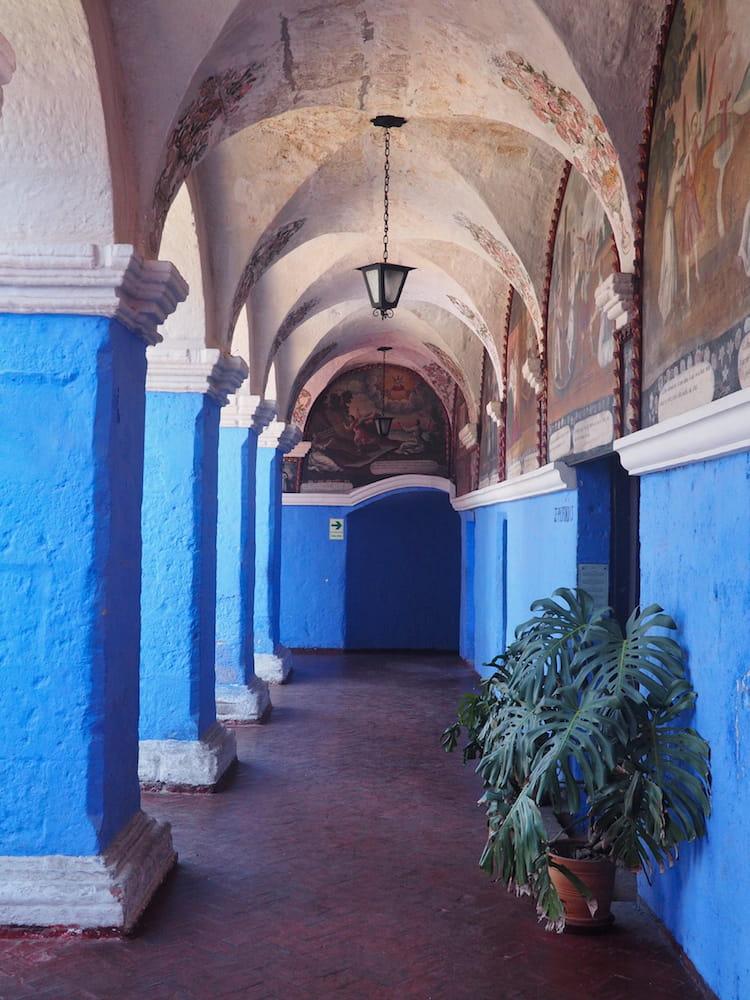 Cloisters inside the monastery