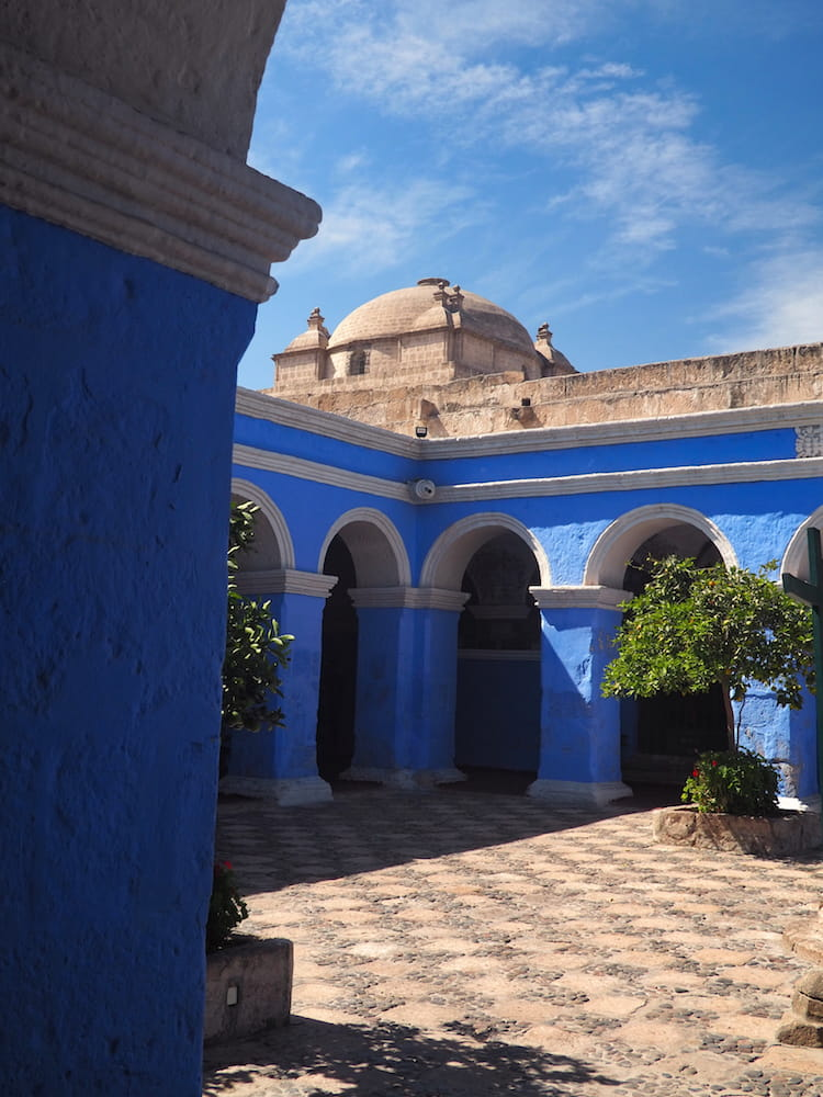 Arches surrounding a courtyard