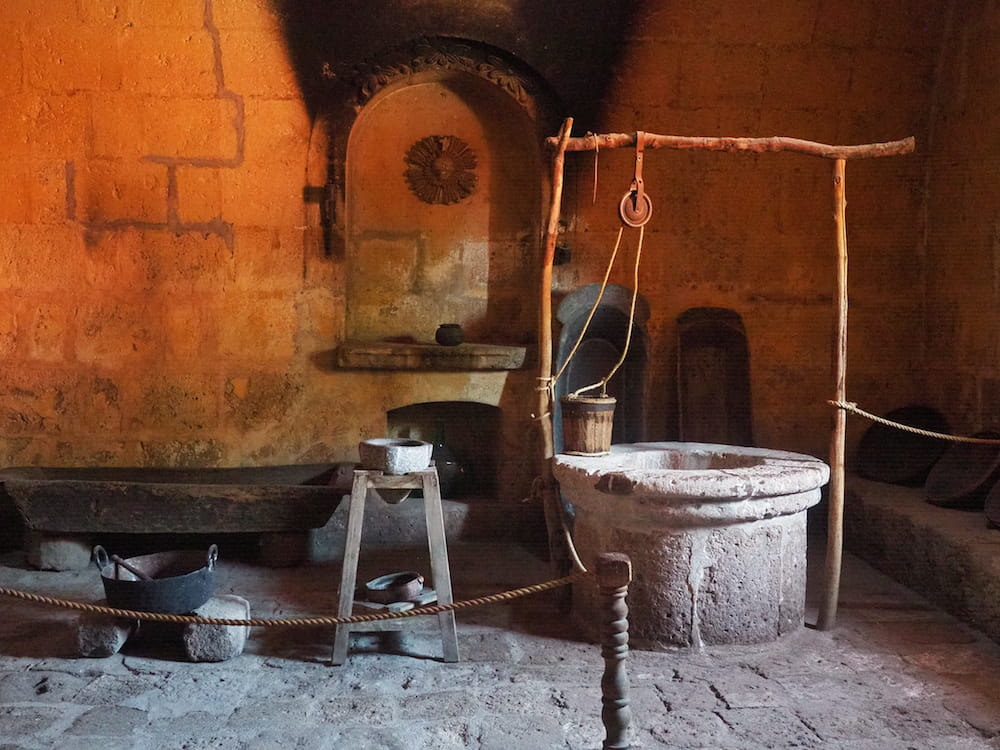 One of the monastery's many kitchens