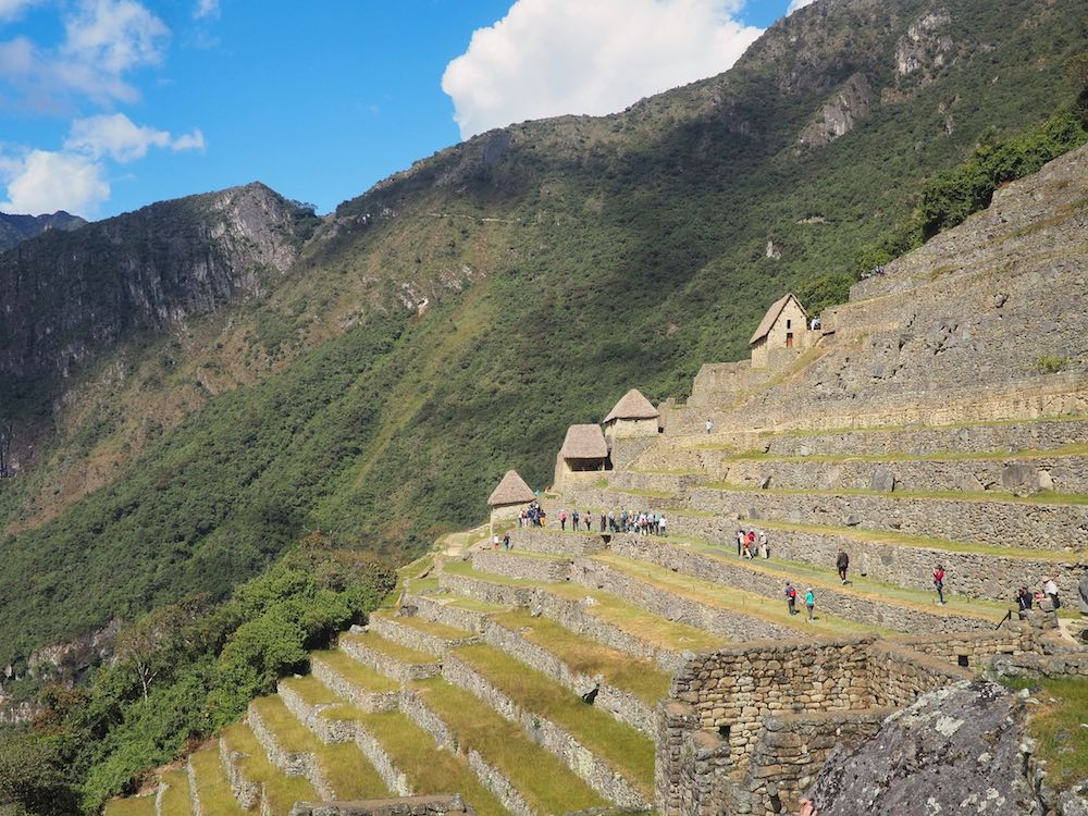 Stepped terraces at Machu Picchu citadel
