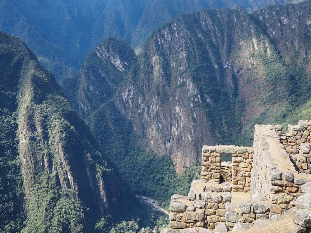 Machu Picchu citadel and surrounding mountains