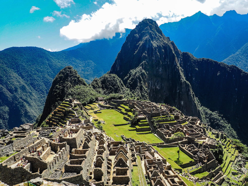 View of Machu Picchu from above