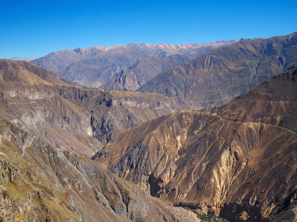 View of Colca Canyon above Sangalle