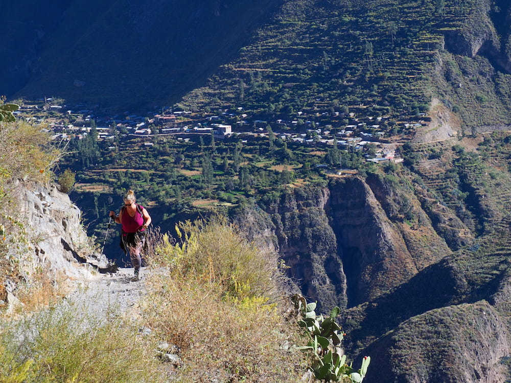 Nicky climbing up from San Juan de Chuccho