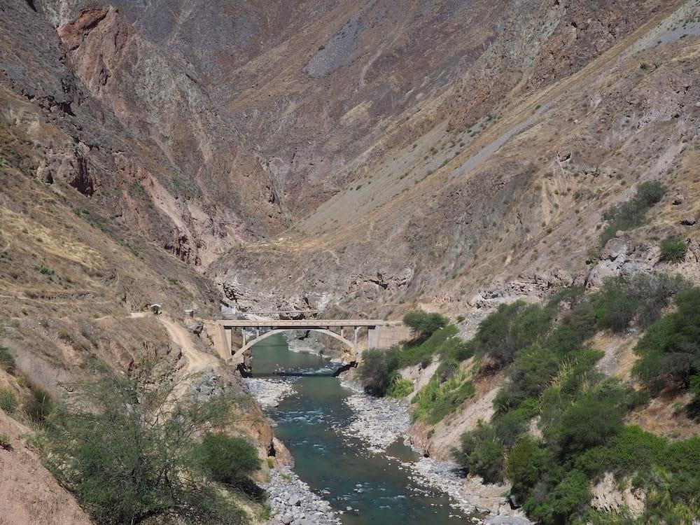 Inca bridge near to Llahuar