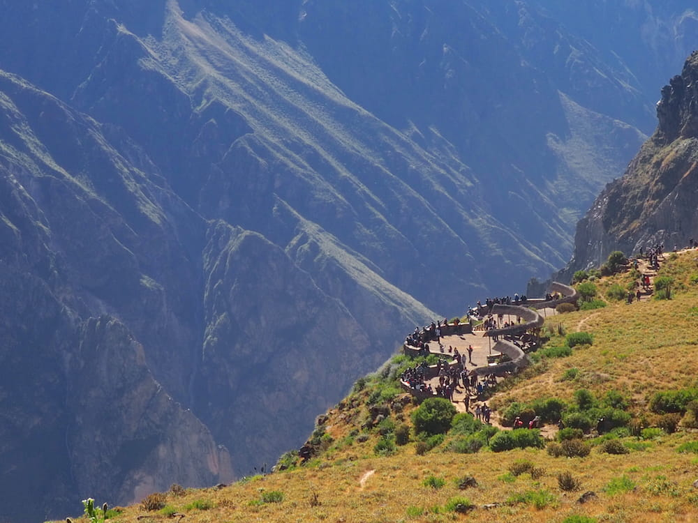 Viewing point at Colca Canyon