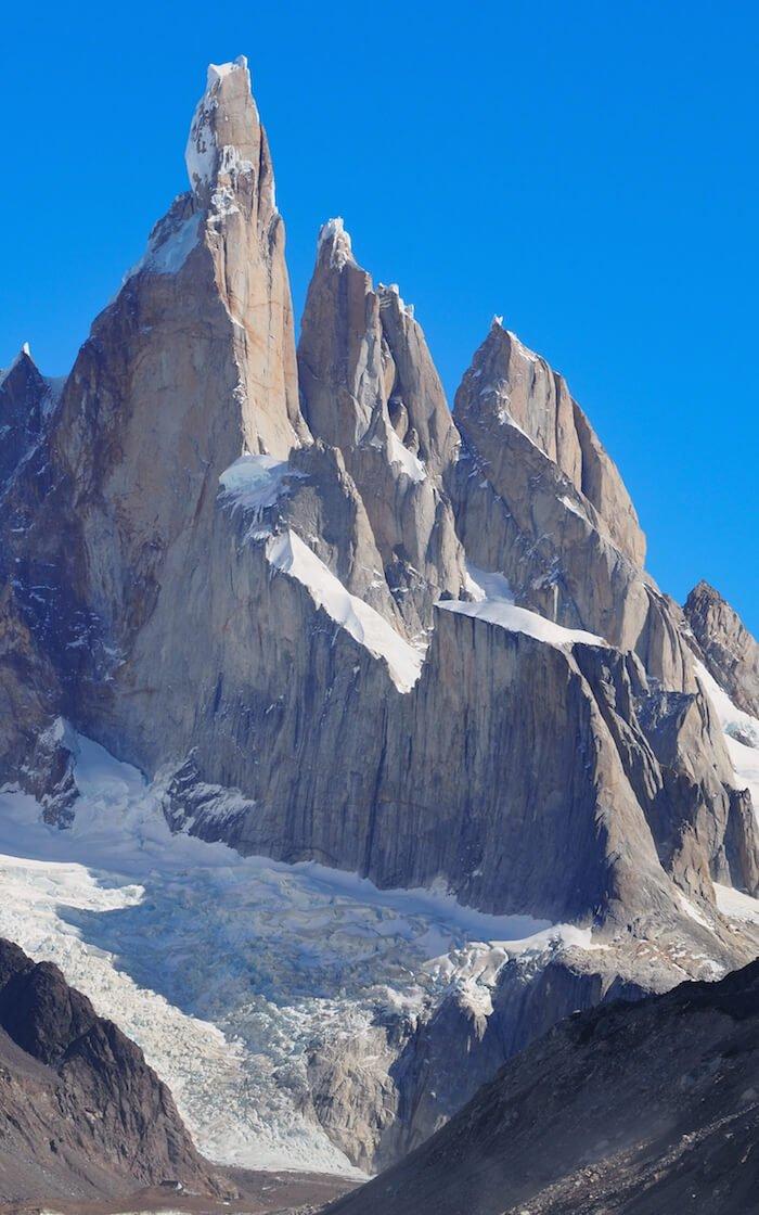 The three spires of Cerro Torre