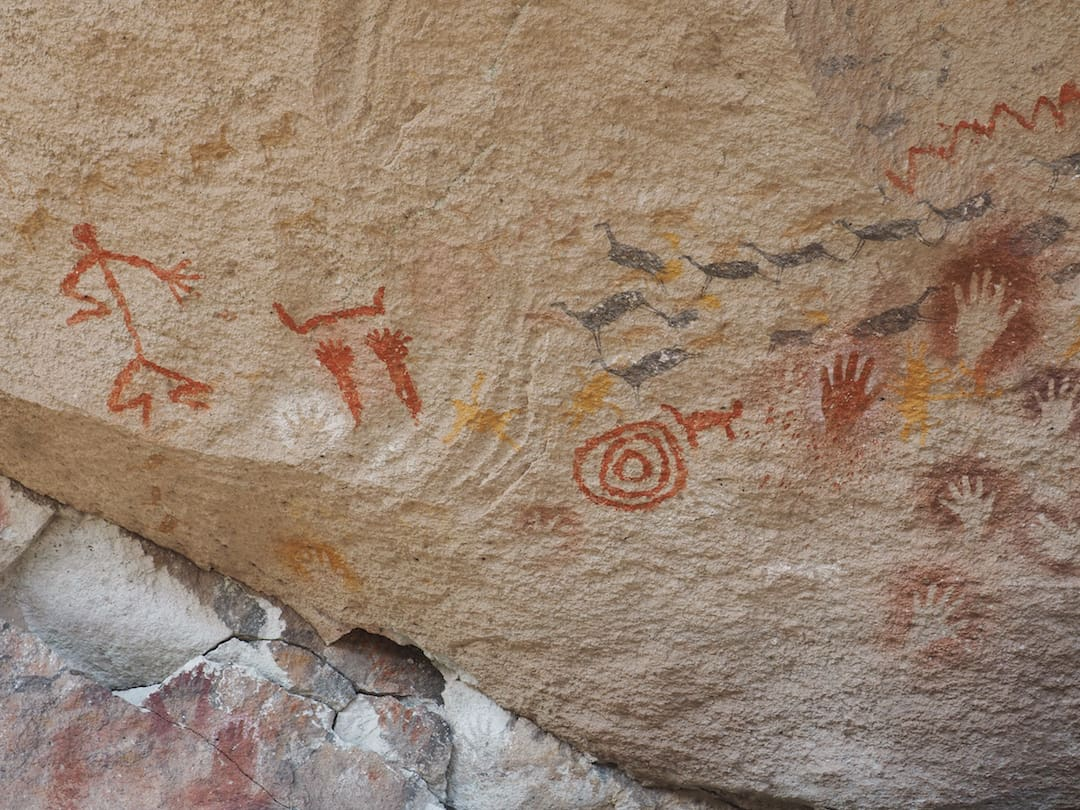 Cave art (guanacos)