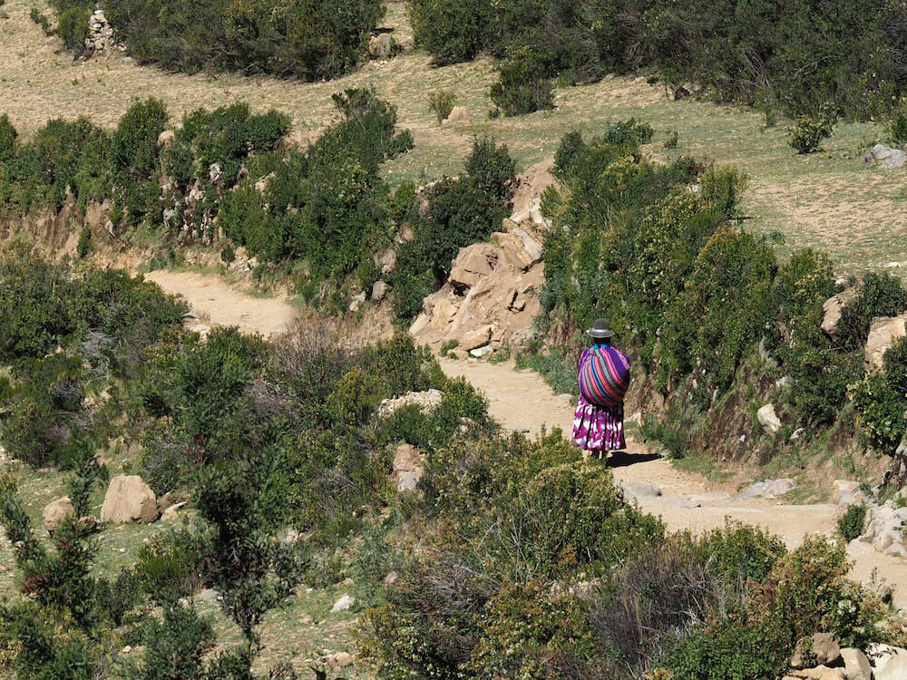 A local woman en route to Pilko Kaina