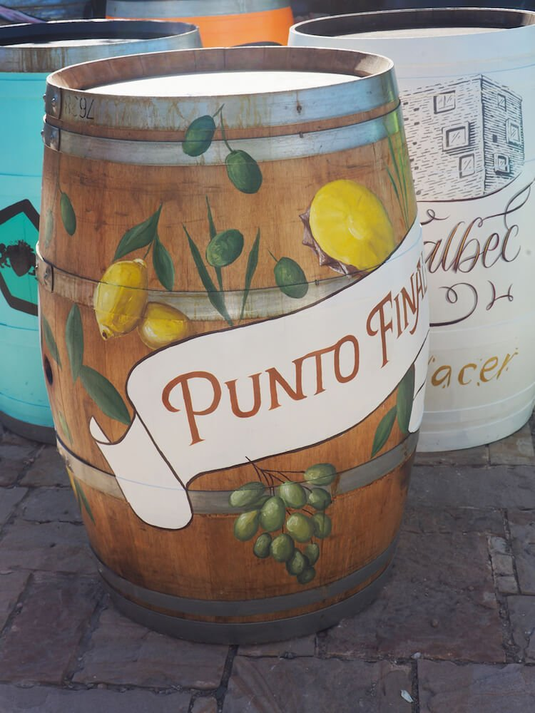 Painted barrel at Renacer Vineyard