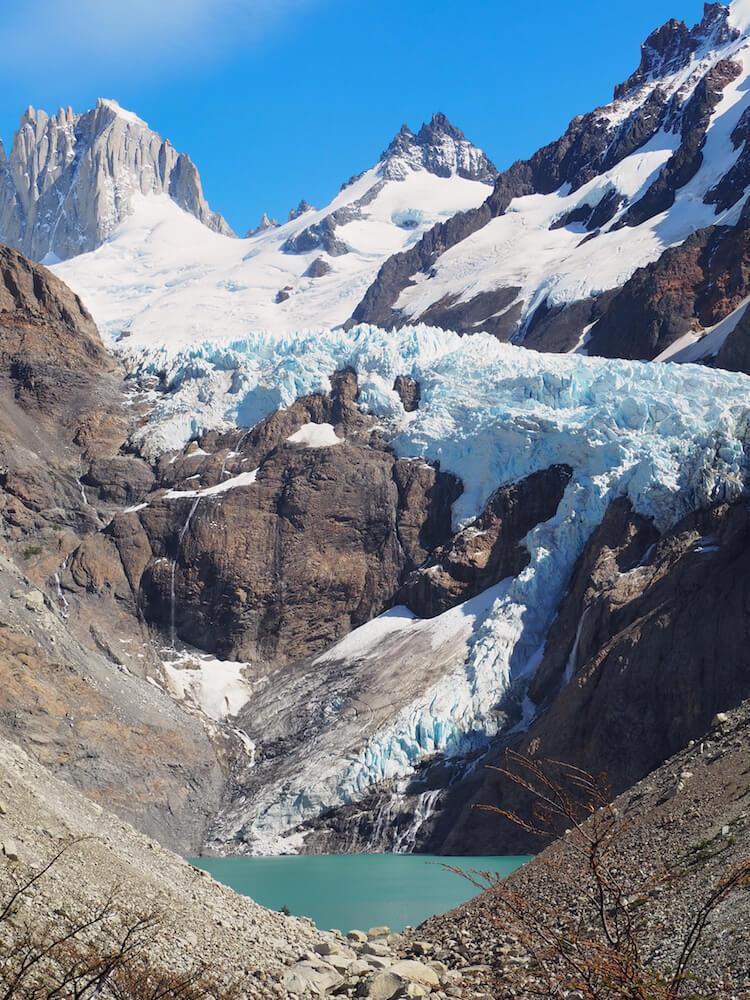 The Piedras Blancas Glacier