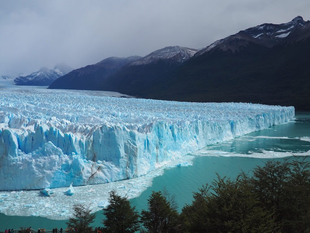 Elevated view of the glacier from the boardwalk