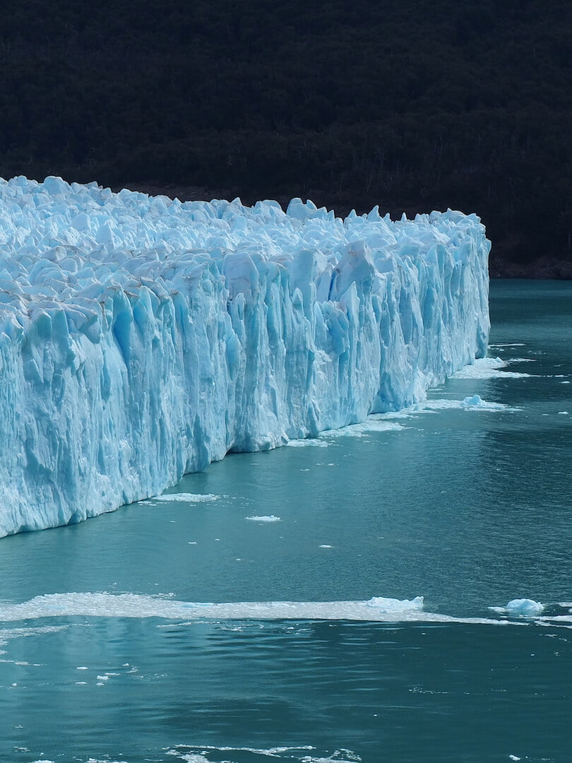 The glacier as it points into Lago Argentino