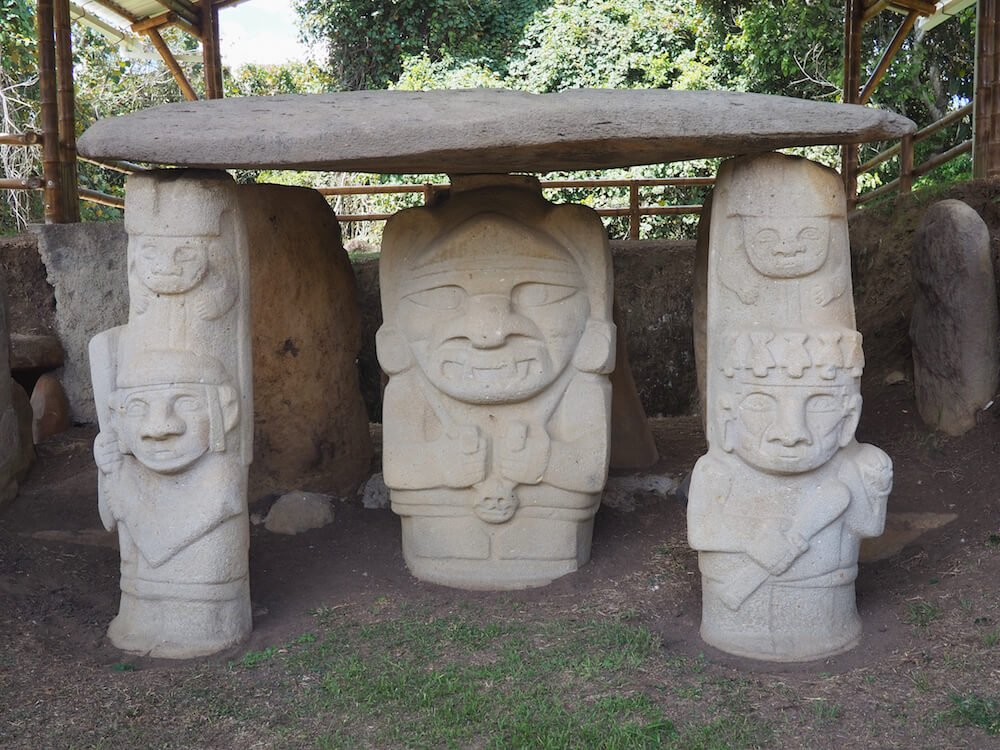 Statues in Parque Archaeologico, San Agustin Colombia