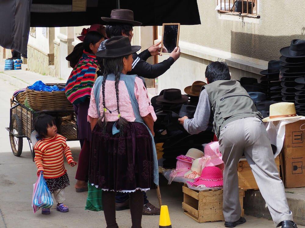 Hat seller in Tarabuco