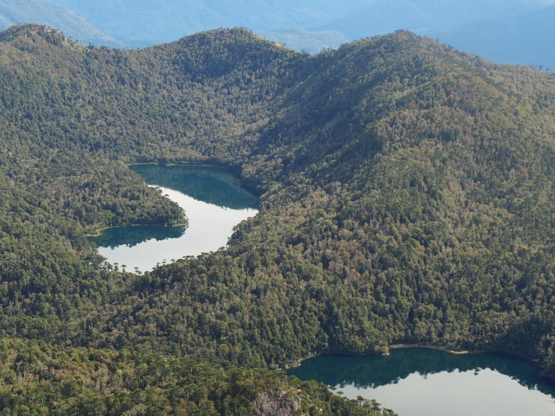 San Sebastian Trail - view of twin lakes
