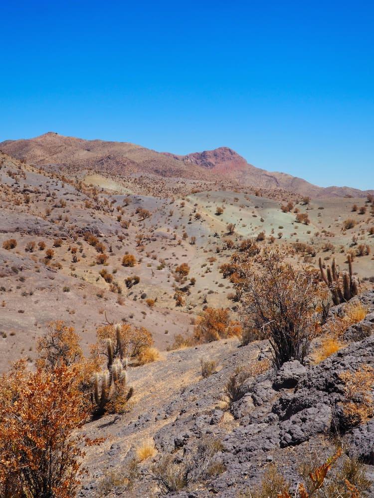 Multi coloured hills