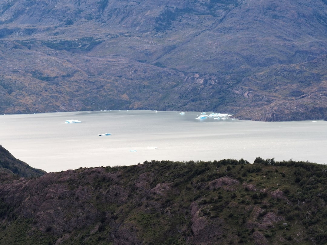 View of Lago Grey from the Mirador Ferrier