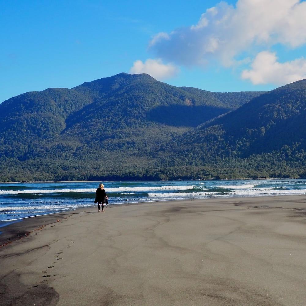 The ocean side beach