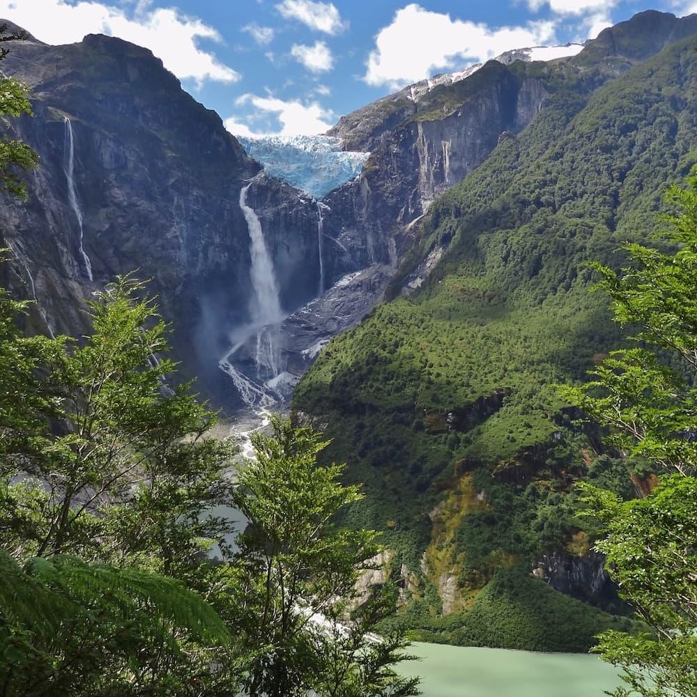 The Hanging Glacier at Parque Nacional Queulat